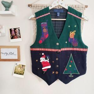 Karen Scott festive Christmas Holiday vest small